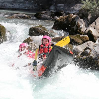 White water descent in the Undiscovered Alps