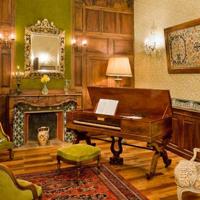 Chateau Picomtal in the Southern French Alps lounge