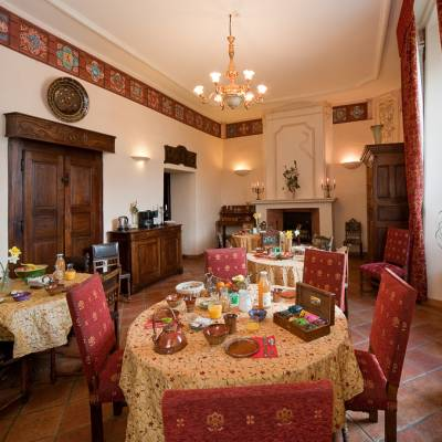 Chateau Picomtal in the Southern French Alps dining room