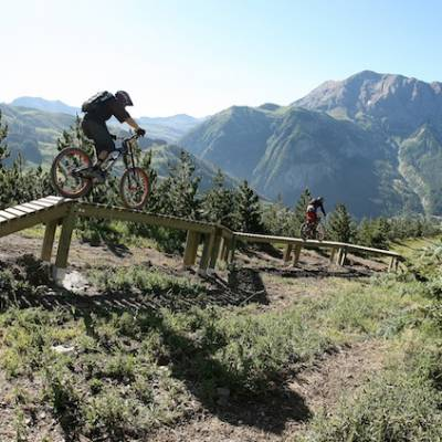 downhill mountain biking in the Southern French Alps