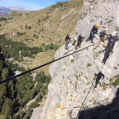 stag group doing the via ferrata with Undiscovered Mountains (6 of 7).jpg