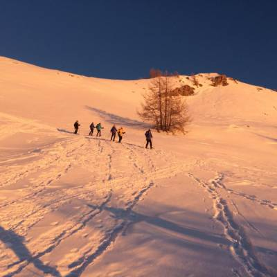 snowshoeing sunsetting  with Undiscovered Mountains in Prapic in the Alps (3 of 4).jpg