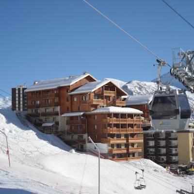 Terraces de la Bergrie in winter