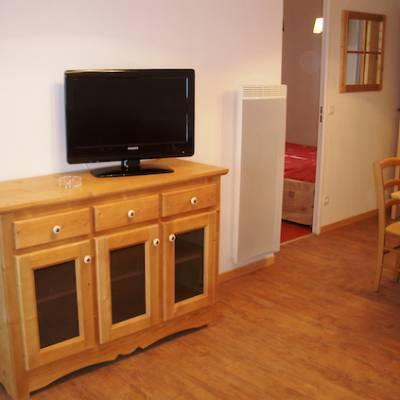 Terraces de la Bergrie lounge area in apartment