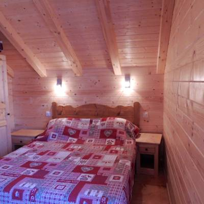 Chalet valrouanne in Ancelle in the French Alps double bedroom