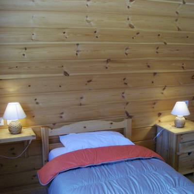 The Counit Chalet near Orcieres ski resort in the Alps single bed