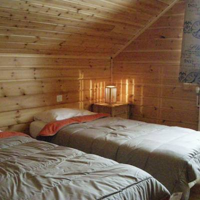 The Counit Chalet near Orcieres ski resort in the Alps twin bed