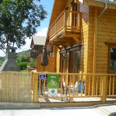 The Counit Chalet near Orcieres ski resort in the Alps in summer