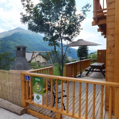 The Counit Chalet near Orcieres ski resort in the Alps sun terrace