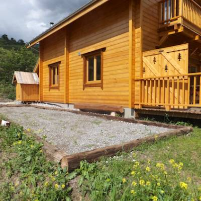 The Counit Chalet near Orcieres ski resort in the Alps terrace