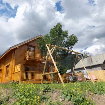 The Counit Chalet near Orcieres ski resort in the Alps garden swings