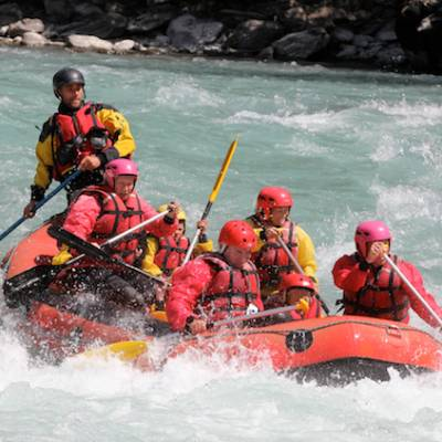 white water rafting on the Durance in france