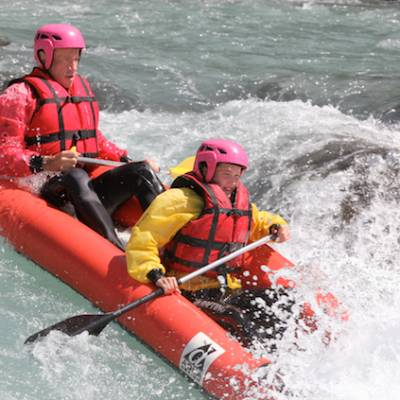 white water rafting on the Durance