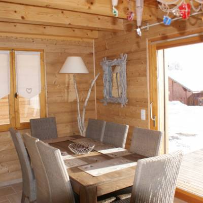 Dining Room in Quilliwasi Chalet in Chaillol in Alps