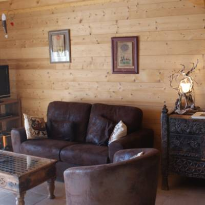 Lounge area of Quilliwasi Chalet in Chaillol in Southern Alps