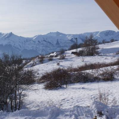 View in Winter from Quilliwasi Chalet in Chaillol