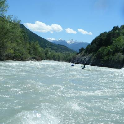Kayaking in the Alps