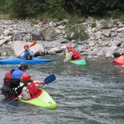 Kayaking beginners course white water