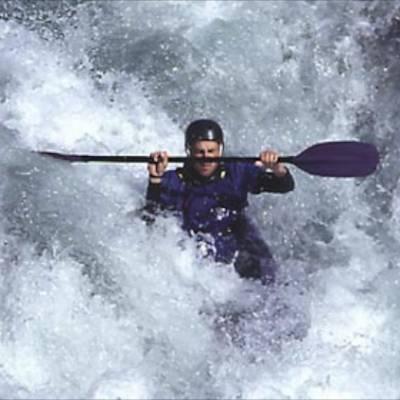 Kayaking big white water rapids