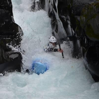 Kayaking white water on the Bonne rapids