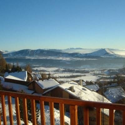 Chalet du tourond in Chaillol in the French Alps view