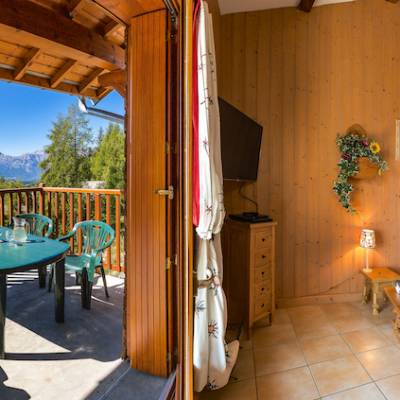 Tourond chalet style apartment in ski village in the Alps