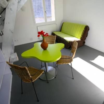 Auberge des Ecrins  family suite lounge