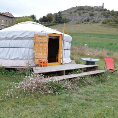 Yurts in the french Alps