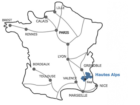 Map Of The Alps In France.Southern French Alps Multi Activity Holidays
